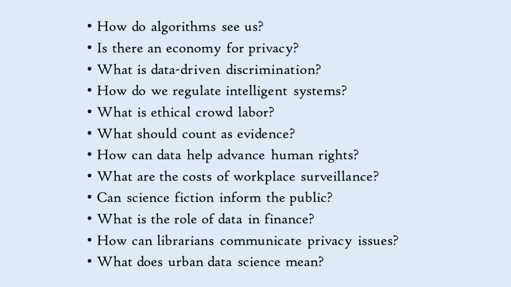Data and Society Questions